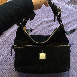 Dooney &Bourke suede black leather hobo bag